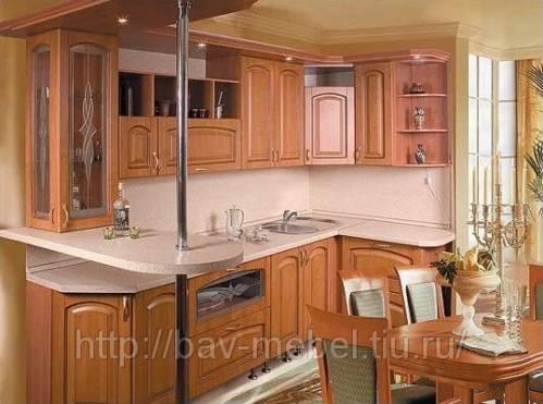 Дизайн кухни пт с треугольным эркером